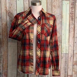 Ralph Lauren Button Up Plaid Shirt